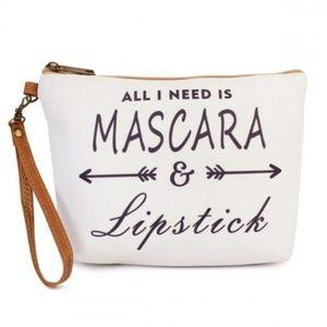 Mascara & Lipstick Cosmetic bag; NWT
